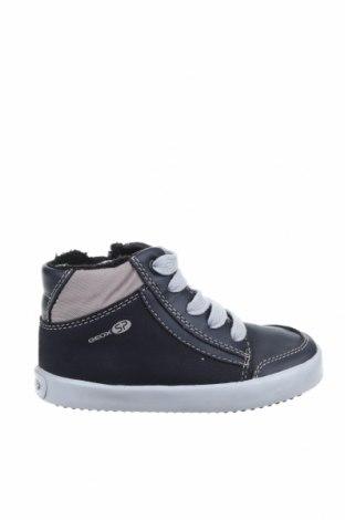 Παιδικά παπούτσια Geox, Μέγεθος 24, Χρώμα Μπλέ, Δερματίνη, κλωστοϋφαντουργικά προϊόντα, Τιμή 23,31€