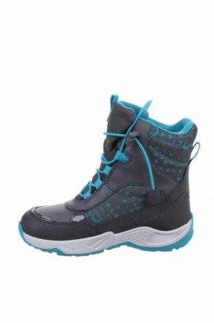 Παιδικά παπούτσια Geox, Μέγεθος 30, Χρώμα Γκρί, Δερματίνη, κλωστοϋφαντουργικά προϊόντα, Τιμή 34,39€