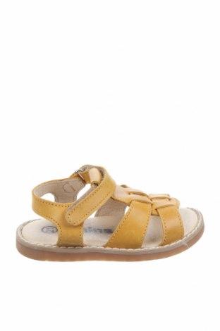 Детски обувки Kmins, Размер 21, Цвят Жълт, Естествена кожа, Цена 34,50лв.