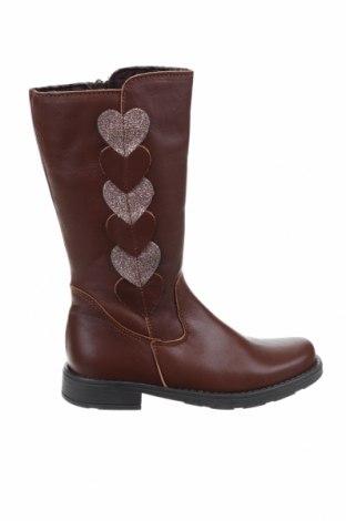 Παιδικά παπούτσια Kmins, Μέγεθος 32, Χρώμα Καφέ, Γνήσιο δέρμα, Τιμή 29,44€