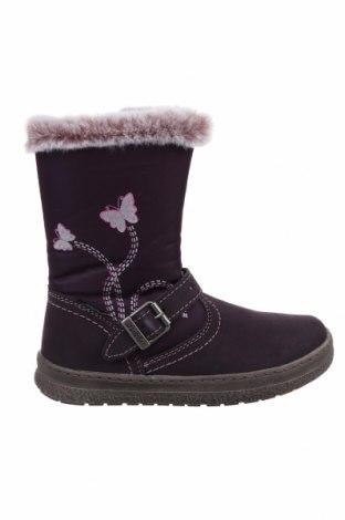 Детски обувки Lurchi, Размер 29, Цвят Лилав, Естествен велур, текстил, Цена 45,22лв.