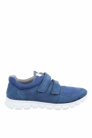 Παιδικά παπούτσια Richter, Μέγεθος 35, Χρώμα Μπλέ, Φυσικό σουέτ, κλωστοϋφαντουργικά προϊόντα, Τιμή 31,70€