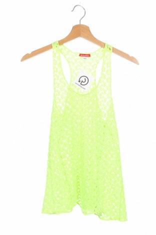 Μπλουζάκι αμάνικο παιδικό A punto, Μέγεθος 10-11y/ 146-152 εκ., Χρώμα Πράσινο, Τιμή 6,23€