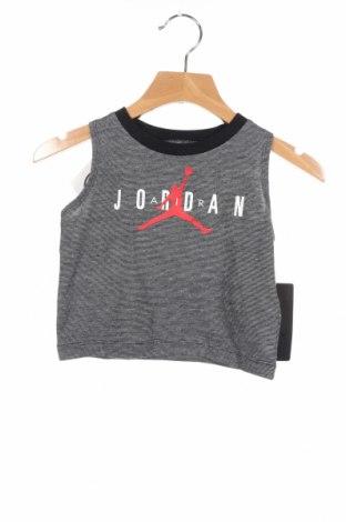 Μπλουζάκι αμάνικο παιδικό Air Jordan Nike, Μέγεθος 9-12m/ 74-80 εκ., Χρώμα Γκρί, 53% βαμβάκι, 47% πολυεστέρας, Τιμή 13,67€