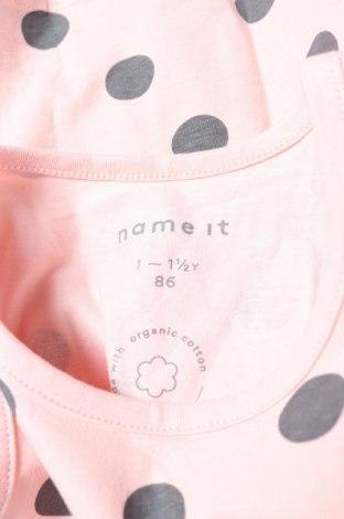 Μπλουζάκι αμάνικο παιδικό Name It, Μέγεθος 12-18m/ 80-86 εκ., Χρώμα Ρόζ , 95% βαμβάκι, 5% ελαστάνη, Τιμή 9,41€