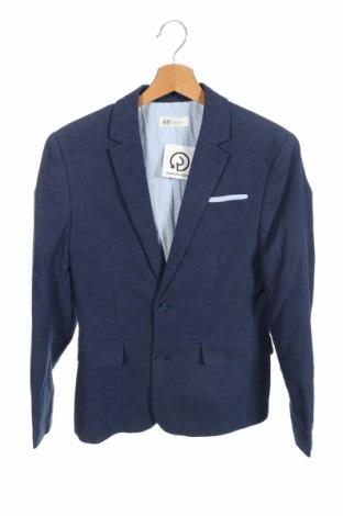 Παιδικό σακάκι H&M, Μέγεθος 14-15y/ 168-170 εκ., Χρώμα Μπλέ, 80% βαμβάκι, 20% λινό, Τιμή 12,67€