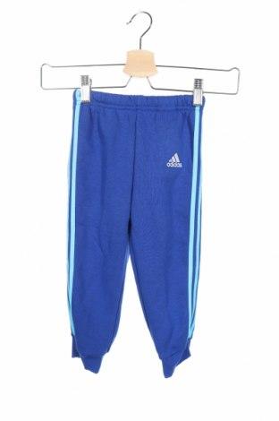 Παιδική κάτω φόρμα Adidas, Μέγεθος 18-24m/ 86-98 εκ., Χρώμα Μπλέ, 70% βαμβάκι, 30% πολυεστέρας, Τιμή 10,86€