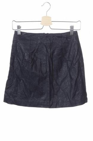 Δερμάτινη φούστα H&M Divided, Μέγεθος XS, Χρώμα Μπλέ, Δερματίνη, Τιμή 1,59€