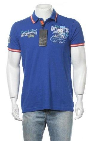 Мъжка тениска Bruno Banani, Размер L, Цвят Син, 95% памук, 5% еластан, Цена 36,75лв.