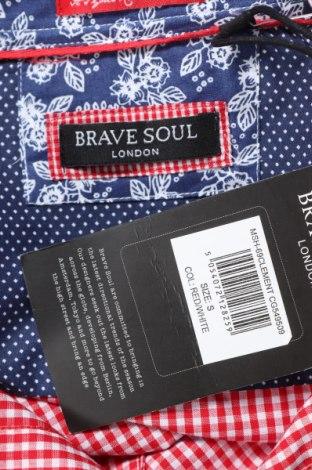 Мъжка риза Brave Soul, Размер S, Цвят Червен, 53% памук, 47% полиестер, Цена 11,34лв.