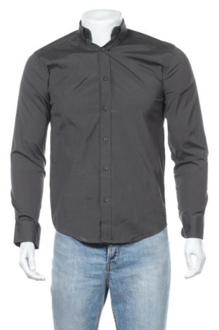 Ανδρικό πουκάμισο By Garment Makers, Μέγεθος XS, Χρώμα Γκρί, 98% βαμβάκι, 2% ελαστάνη, Τιμή 3,08€