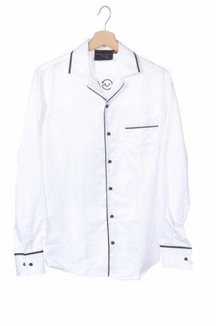 Ανδρικό πουκάμισο Criminal Damage, Μέγεθος S, Χρώμα Λευκό, 100% πολυεστέρας, Τιμή 2,84€