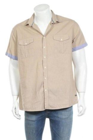Ανδρικό πουκάμισο Defacto, Μέγεθος XL, Χρώμα  Μπέζ, Βαμβάκι, Τιμή 3,86€