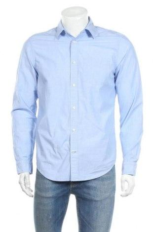 Мъжка риза Gap, Размер M, Цвят Син, Памук, Цена 21,00лв.