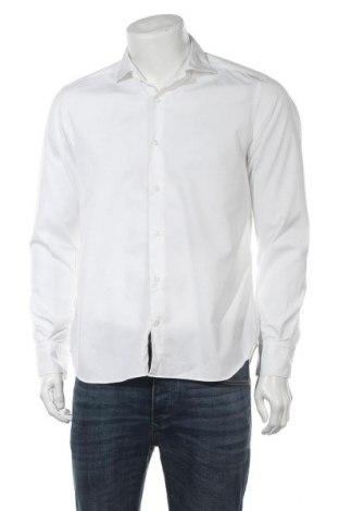 Ανδρικό πουκάμισο Massimo Dutti, Μέγεθος L, Χρώμα Λευκό, Βαμβάκι, Τιμή 17,43€