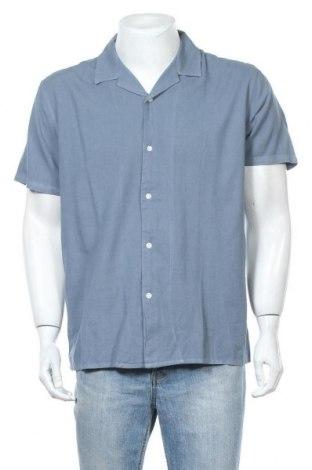 Мъжка риза Minimum, Размер L, Цвят Син, 55% лен, 45% памук, Цена 67,32лв.