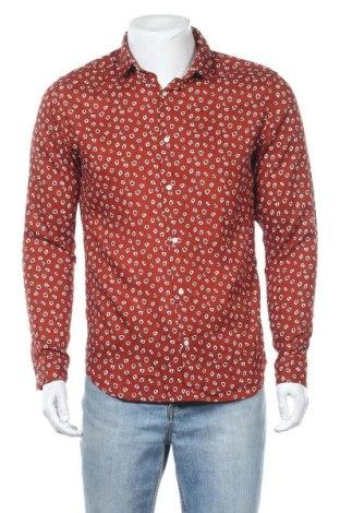 Мъжка риза Premium By Jack & Jones, Размер M, Цвят Червен, 100% вискоза, Цена 51,75лв.