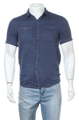 Мъжка риза Q/S by S.Oliver, Размер S, Цвят Син, Памук, Цена 15,50лв.