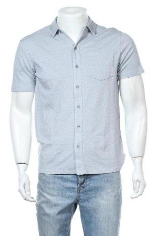 Ανδρικό πουκάμισο Q/S by S.Oliver, Μέγεθος M, Χρώμα Μπλέ, Βαμβάκι, Τιμή 17,01€
