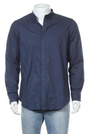 Мъжка риза Walbusch, Размер M, Цвят Син, Памук, Цена 16,07лв.