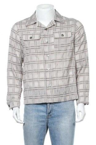 Ανδρικό πουκάμισο Weekday, Μέγεθος S, Χρώμα  Μπέζ, 94% πολυεστέρας, 4% βισκόζη, 2% ελαστάνη, Τιμή 2,11€
