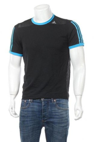 Ανδρικό t-shirt Adidas, Μέγεθος S, Χρώμα Μαύρο, Τιμή 8,45€