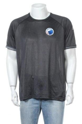 Ανδρικό t-shirt Adidas, Μέγεθος XL, Χρώμα Γκρί, Πολυεστέρας, Τιμή 7,27€