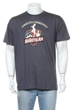 Ανδρικό t-shirt B&C Collection, Μέγεθος XL, Χρώμα Γκρί, Βαμβάκι, Τιμή 6,43€