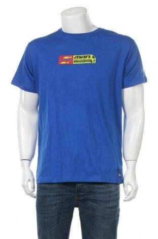 Ανδρικό t-shirt Boohoo, Μέγεθος S, Χρώμα Μπλέ, Βαμβάκι, Τιμή 6,03€