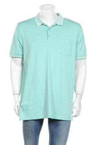 Мъжка тениска Bugatti, Размер XXL, Цвят Зелен, 50% памук, 50% полиестер, Цена 41,40лв.