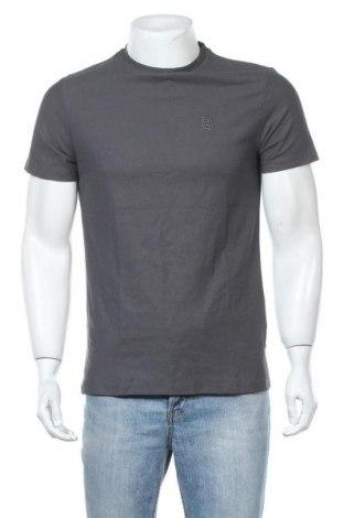 Мъжка тениска Burton of London, Размер S, Цвят Сив, Памук, Цена 19,50лв.