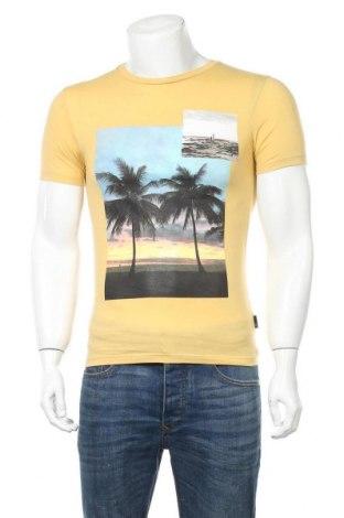 Мъжка тениска Burton of London, Размер XS, Цвят Жълт, 51% памук, 49% полиестер, Цена 27,00лв.