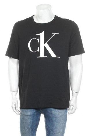 Мъжка тениска Calvin Klein Jeans, Размер L, Цвят Черен, 95% памук, 5% еластан, Цена 89,25лв.