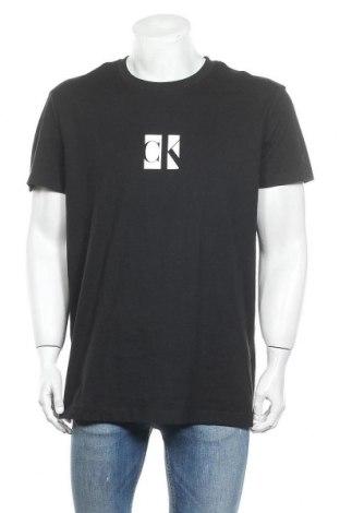 Мъжка тениска Calvin Klein Jeans, Размер XL, Цвят Черен, Памук, Цена 89,25лв.