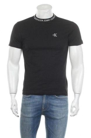 Мъжка тениска Calvin Klein Jeans, Размер S, Цвят Черен, Памук, Цена 61,50лв.