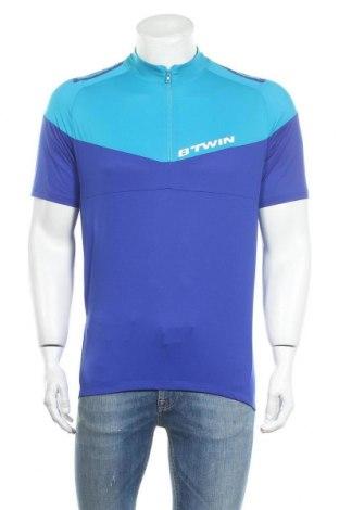 Мъжка тениска Decathlon, Размер L, Цвят Син, Полиестер, Цена 4,73лв.