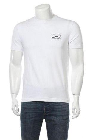Мъжка тениска Emporio Armani, Размер M, Цвят Бял, 95% памук, 5% еластан, Цена 95,40лв.