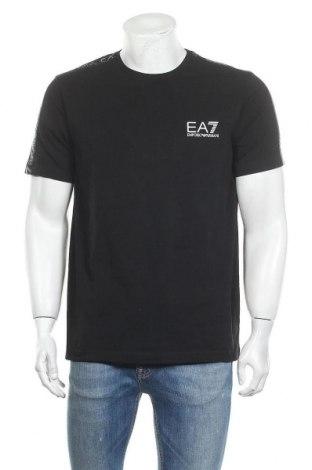 Мъжка тениска Emporio Armani, Размер XL, Цвят Черен, 94% памук, 6% еластан, Цена 101,32лв.
