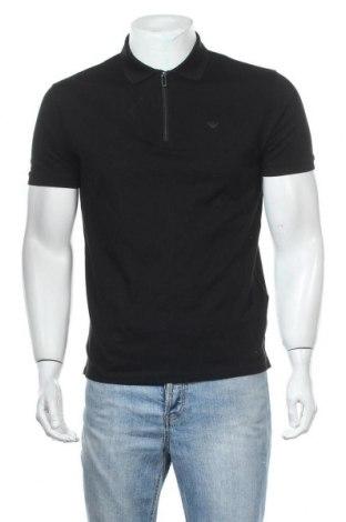 Мъжка тениска Emporio Armani, Размер M, Цвят Черен, 99% памук, 1% еластан, Цена 101,32лв.