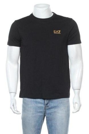 Мъжка тениска Emporio Armani, Размер L, Цвят Черен, Памук, Цена 108,12лв.