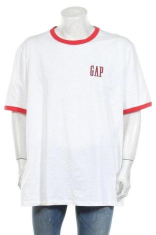 Мъжка тениска Gap, Размер 3XL, Цвят Бял, Памук, Цена 24,00лв.