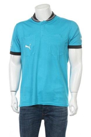 Мъжка тениска PUMA, Размер L, Цвят Син, Полиестер, Цена 22,26лв.
