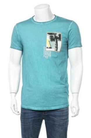 Мъжка тениска Q/S by S.Oliver, Размер M, Цвят Зелен, Памук, Цена 27,00лв.