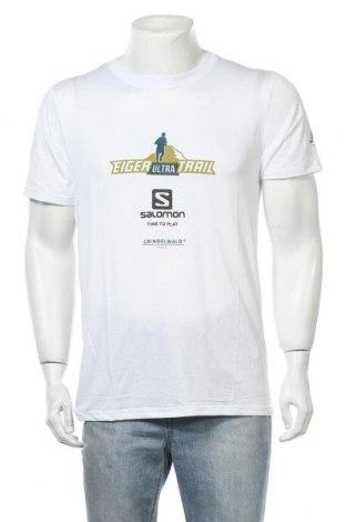 Мъжка тениска Salomon, Размер L, Цвят Бял, Цена 14,28лв.