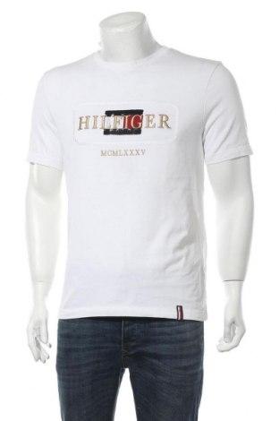 Tricou de bărbați Tommy Hilfiger, Mărime M, Culoare Alb, Bumbac, Preț 187,90 Lei