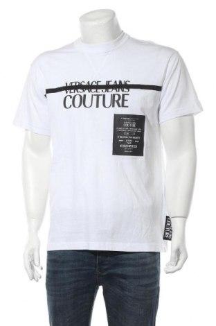 Мъжка тениска Versace Jeans, Размер M, Цвят Бял, Памук, Цена 100,17лв.
