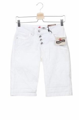 Γυναικείο κοντό παντελόνι Buena Vista, Μέγεθος XS, Χρώμα Λευκό, 65% βαμβάκι, 33% πολυεστέρας, 2% ελαστάνη, Τιμή 18,06€