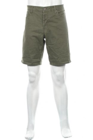 Ανδρικό κοντό παντελόνι Jack & Jones, Μέγεθος XL, Χρώμα Πράσινο, 98% βαμβάκι, 2% ελαστάνη, Τιμή 33,77€