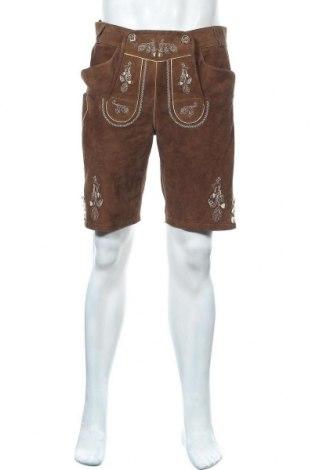 Pantaloni scurți de bărbați Lekra, Mărime M, Culoare Maro, Piele naturală, Preț 129,32 Lei