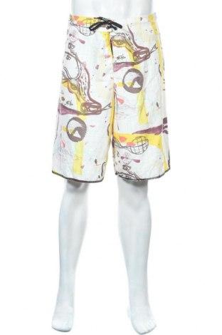 Ανδρικό κοντό παντελόνι Quiksilver, Μέγεθος M, Χρώμα Λευκό, Πολυεστέρας, Τιμή 9,35€